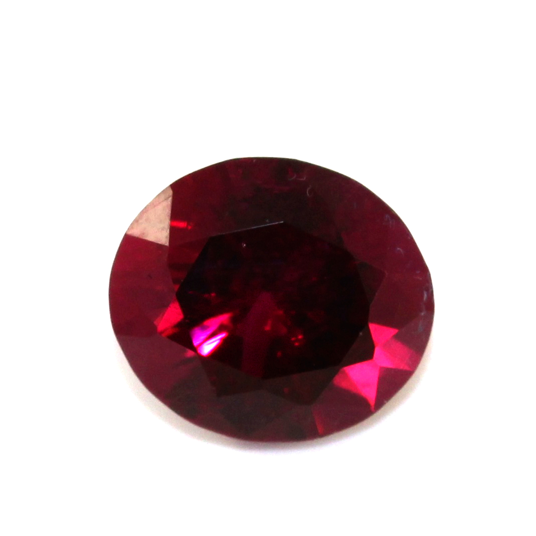 rubelite oval 7 carat design cut gemstone