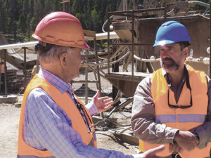 Montana Sapphire Mine in Rock Creek. Arlan Abel (Americut Gems) and Keith Barron (Potentate Mining llc.)