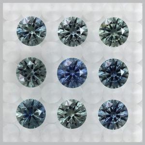 Precision cut Montana sapphire
