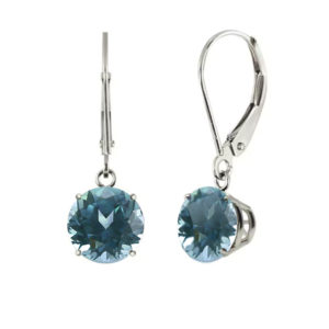 Bluegreen Sapphire Earrings