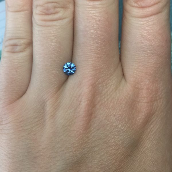 Dark Blue Sapphire - Round .69Ct #38476