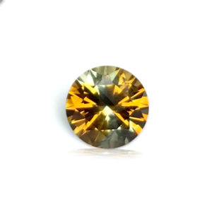 Light Orange Sapphire - Round 1.13Ct