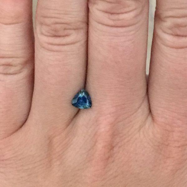 Blue Sapphire - Trillion .99Ct