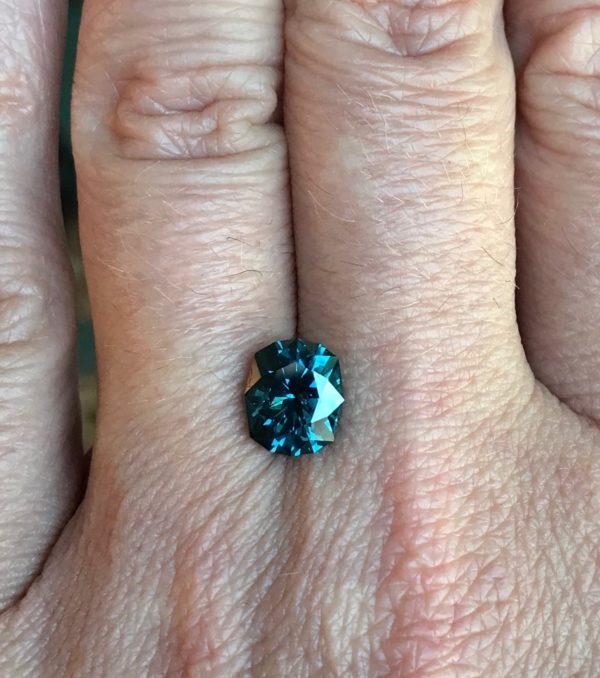 Bluegreen Sapphire - Cushion 2.89cts 118001