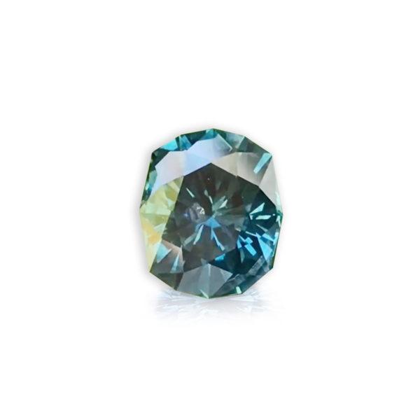 Bluegreen sapphire cushion 2.89cts 118002