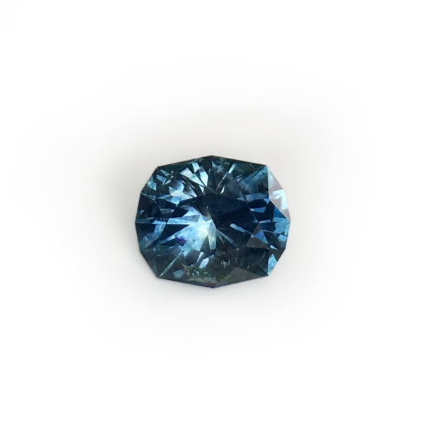 Sapphire- Bluegreen Cushion 2.21 carats