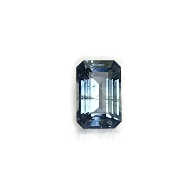 Bluegreen Sapphire - Emerald Cut 1.76cts