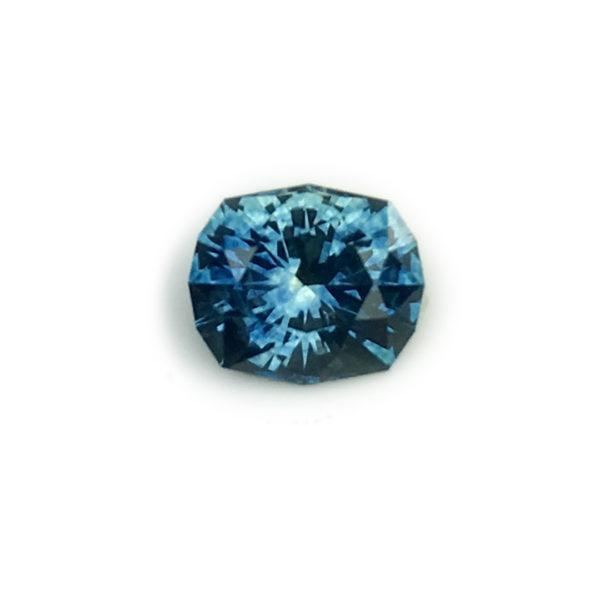 Sapphire- Bluegreen Cushion 1.11cts