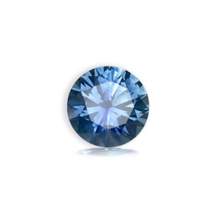 Blue-Green Sapphire-Round .79cts 98061-10