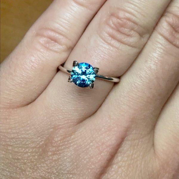 Blue Green-Sapphire-Round 1.59cts