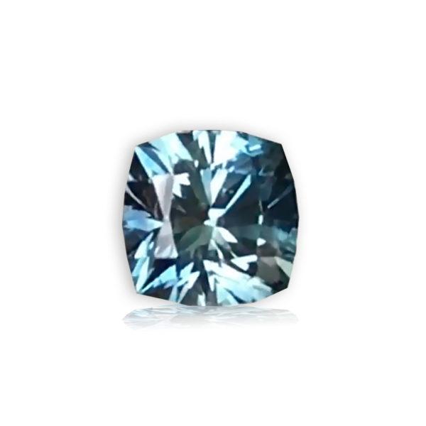 Blue Green Sapphire-Cushion 3.72cts