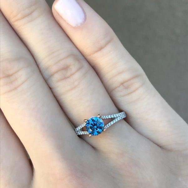 Blue Sapphire-Round 1.0cts