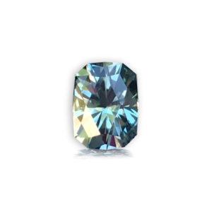 Blue-Green Sapphire-Cushion 1.23cts