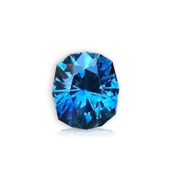 Blue Sapphire-Cushion .90cts