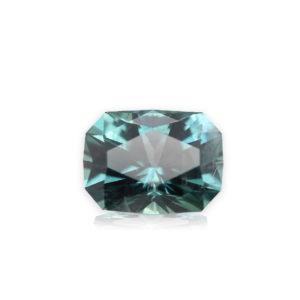 Blue-Green Montana Sapphire- Cushion 1.17cts
