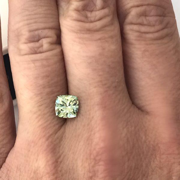 Light Green Montana Sapphire - Cushion 2.32 carats 118010