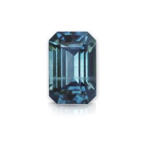 Blue-Green Montana Sapphire-Emerald Cut 1.80 cts