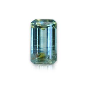 Blue-Green-Yellow Montana Sapphire-Emerald Cut 1.74cts