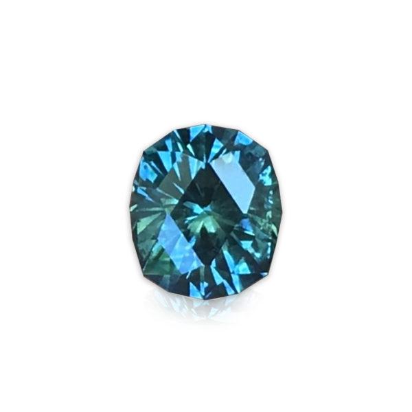 Blue-Green Montana Sapphire-Cushion 1.38cts 128068
