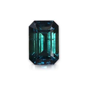 Bluegreen Montana Sapphire-Emerald Cut 3.53cts 148050