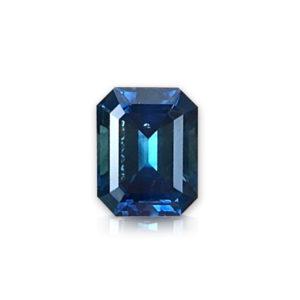 Bluegreen Montana Sapphire-Emerald Cut 2 cts 148098
