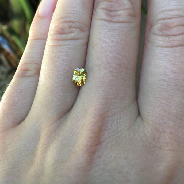 'Divine Radiance' Montana Yellow Sapphire-.99 carats 148109