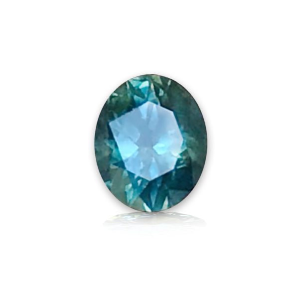 Blue-green Montana Sapphire-Oval 1.03 carats 38281