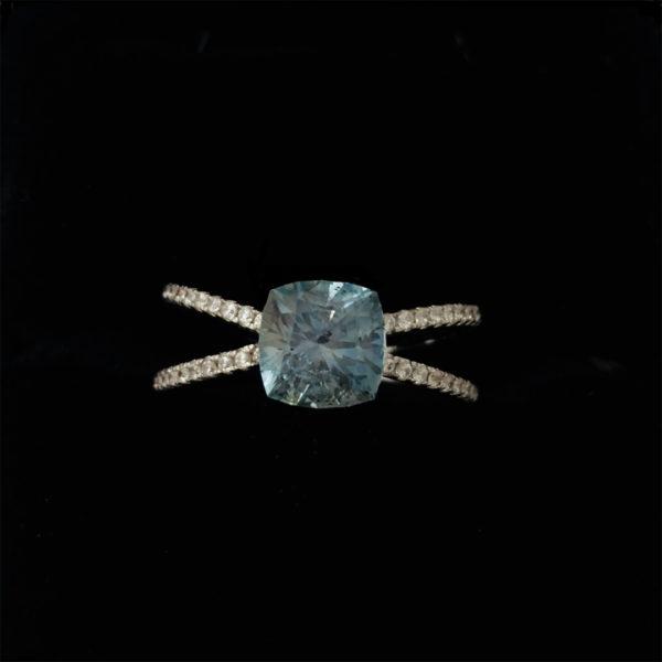 Blue Montana Sapphire-Cushion 2.29ct48570