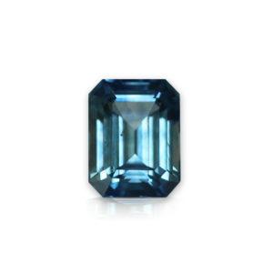 Blue-green Montana Sapphire-Emerald Cut 1.19cts 88149