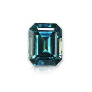 Blue-green Montana Sapphire-Emerald Cut 1.08cts