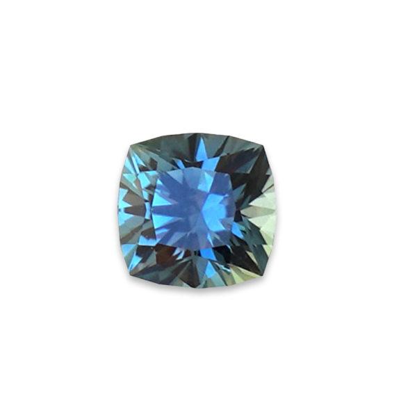 Blue-Green Montana Sapphire - Cushion 2.82 cts 98141