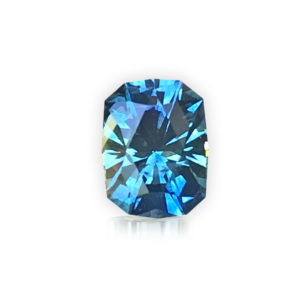 'Divine Radiance' Blue-Green Montana Sapphire- Cushion 1.55 carats