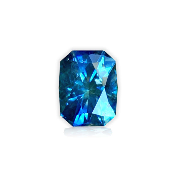 'Divine Radiance' Blue-Green Montana Sapphire- Cushion 1.15 carats