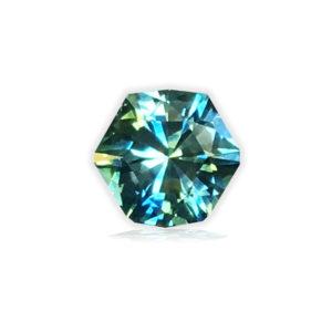 Green/Blue Montana Sapphire-Hexagon .68 carats