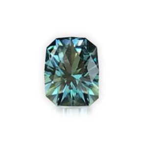 'Divine Radiance' Blue-Green Montana Sapphire- Cushion 1.59cts