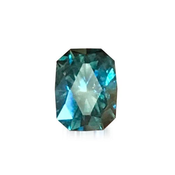 'Divine Radiance' Blue-Green Montana Sapphire- Cushion 1.62cts