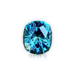 Blue-green Sapphire - Cushion 2.07cts