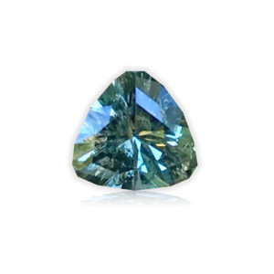Blue-green/Earth Color Change Montana Sapphire- Trillion 1.23cts
