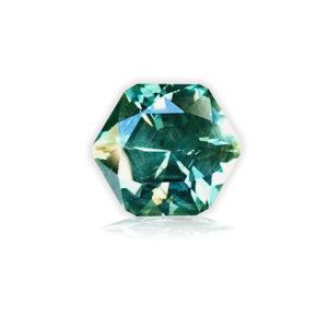 Green-blue Montana Sapphire-Hexagon 5.42cts