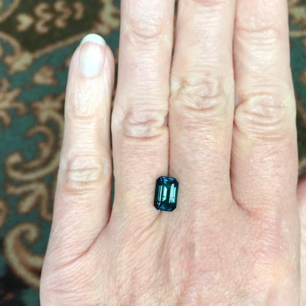 Blue Montana Sapphire - Brilliant Emerald Cut 2.69 cts
