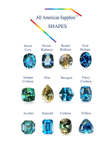 All American Sapphire special design shapes