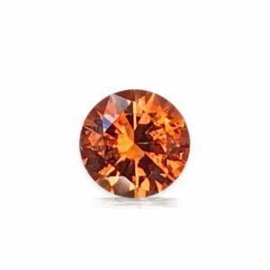 Unheated Orange Montana Sapphire – Round .84cts