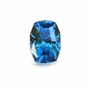 Unheated Blue-Green Montana Sapphire – Fancy Cushion 1.03cts
