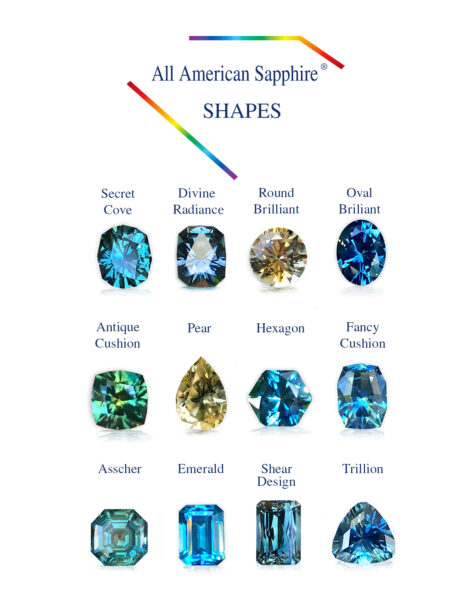 All American Sapphire Shapes