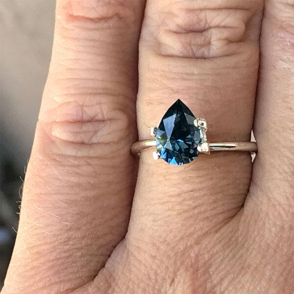 Blue Montana Sapphire-Pear 1.82 carats