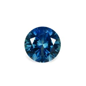 Blue-Green Montana Sapphire - Round 1.13 Carats